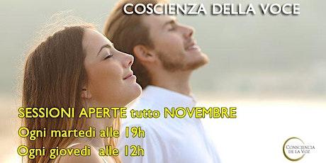 Coscienza della voce - sessioni gratuite in italiano biglietti