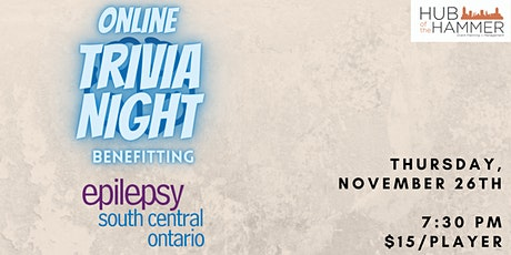 Online Trivia Night for Epilepsy South Central Ontario tickets