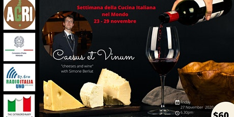 Caesus et Vinum (Cheese and Wine Tasting Experience) tickets