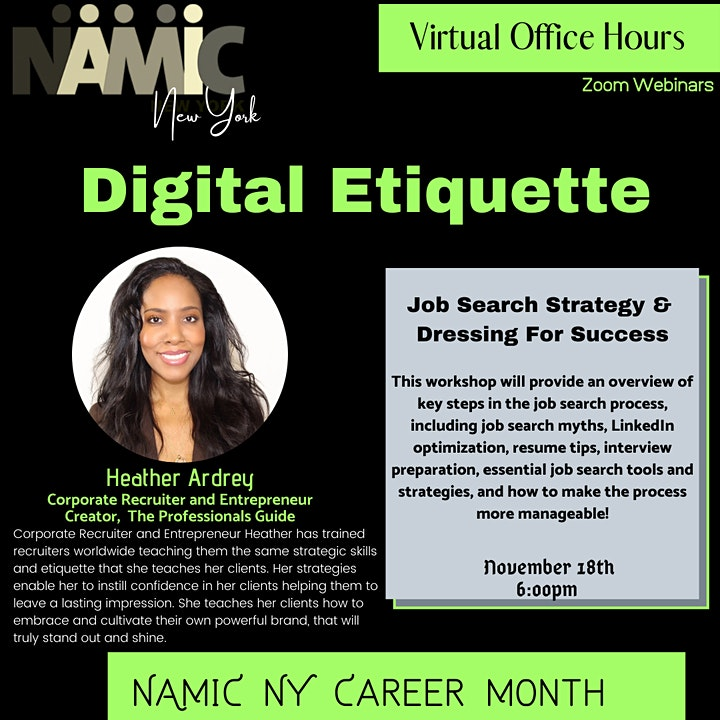 """NAMIC NY Presents: Virtual Office Hours, """"Digital Etiquette"""" image"""
