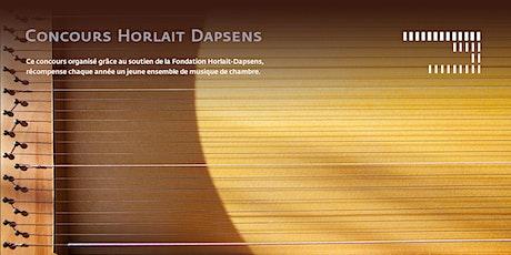 Concours Horlait Dapsens 2021 billets