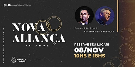 ANIVERSÁRIO ALIANÇA DA PAZ - 18 ANOS (08/Novembro) ingressos