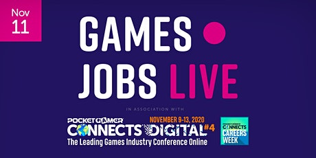 Games Jobs Live @ Pocket Gamer Connects Digital 4 tickets