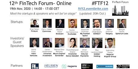 12th FinTech Forum- Online | 19th Nov. 2020 tickets