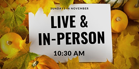 Live and In-Person Sunday Service tickets