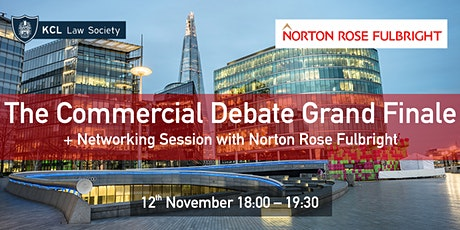 The Commercial Debate Grand Finale tickets