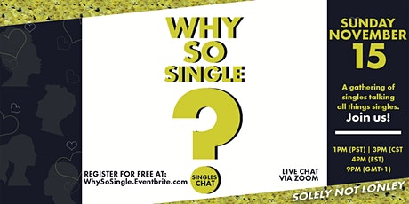 Why So Single? Singles Chat Part 5 tickets