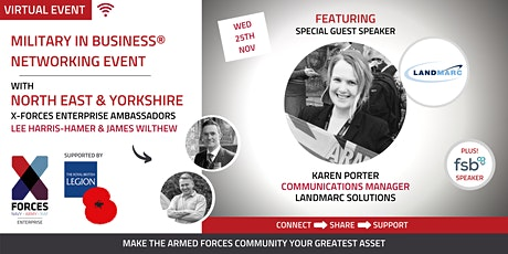 Military in Business Virtual Networking Event: North East and Yorkshire tickets