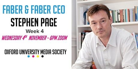 Stephen Page: Faber & Faber CEO tickets