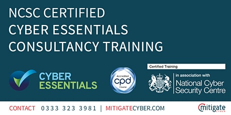 NCSC Certified Cyber Essentials Consultancy Online Training tickets