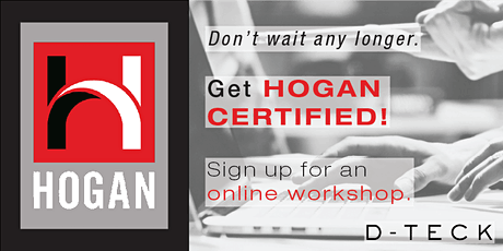 Hogan Certification - Online - August 2021 (Level 1 only) tickets