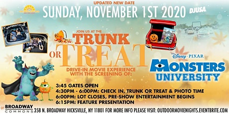 Halloween Trunk or Treat Movie Drive In featuring Monster's University tickets