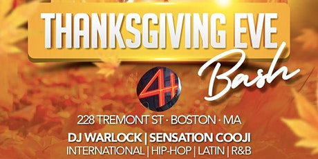 THANKSGIVING EVE BASH tickets