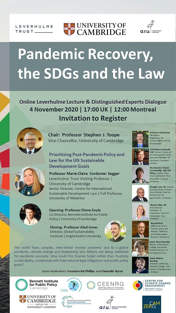 Pandemic Recovery, the SDGs and the Law image