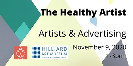 The Healthy Artist: Artists and Advertising tickets