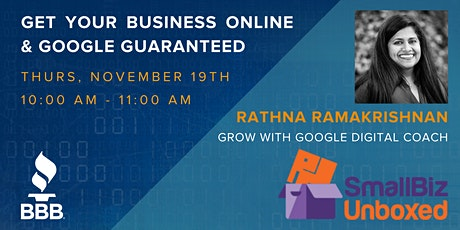 Get your Business Online & Google Guaranteed tickets
