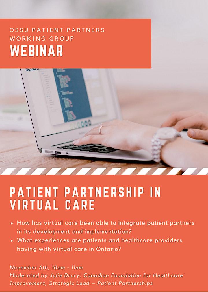 Webinar: Patient Partnership in Virtual Care image