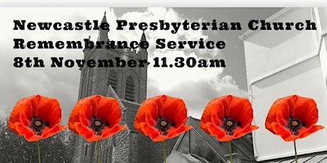 Newcastle Presbyterian Church Sunday Morning Remembrance Service 8th Nov tickets