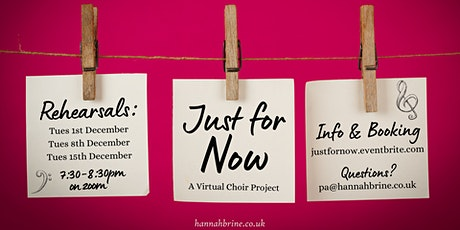 Just For Now - Virtual Choir Project tickets
