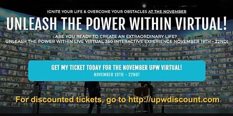 Discounted Tony Robbins UPW Virtual this November tickets