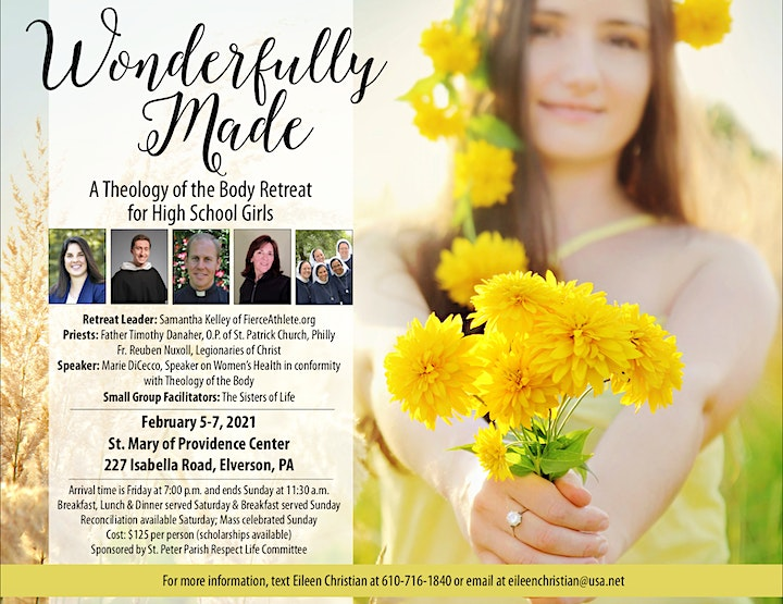 Wonderfully Made: A Theology of the Body Retreat for High School Girls image