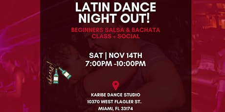 Latin Dance Night Out - Beginners Salsa & Bachata Class tickets