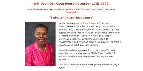 Virtual Open House: Experience Toastmasters Magic! tickets