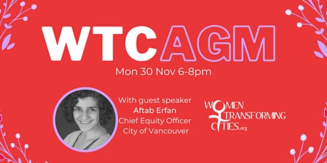 Women Transforming Cities 2020 AGM tickets