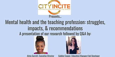 The Importance of Teacher's Mental Health: Research Presentation tickets