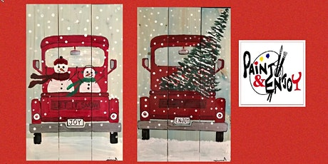 "Paint and Enjoy at Benigna's Winery ""Red Truck ""on Wood tickets"