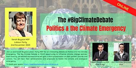 Politics &  the Climate Emergency with Sarah Boyack MSP tickets