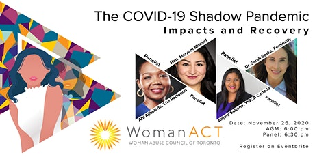 The COVID-19 Shadow Pandemic, Impacts and Recovery Panel tickets