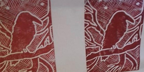 Lino Printed Christmas Cards tickets