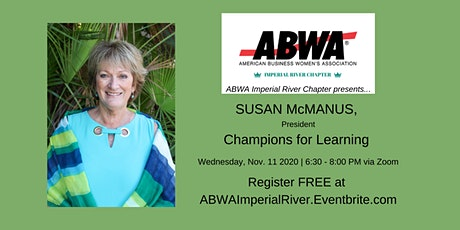 Nov 11th – Susan McManus, Champions For Learning tickets