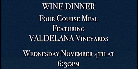 4 Course 5 Wine Dinner tickets