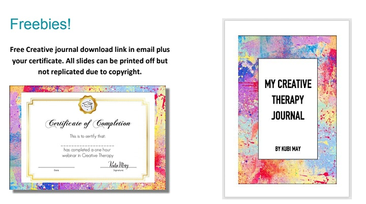 Art Therapy Webinar with Certificate & Free Creative Journal image