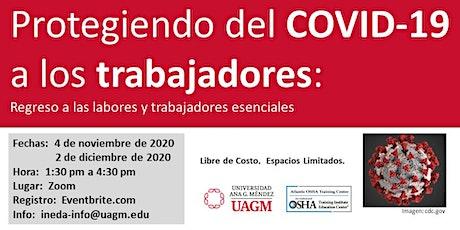 Protegiendo a trabajadores del COVID-19: trabajadores esenciales y regreso boletos