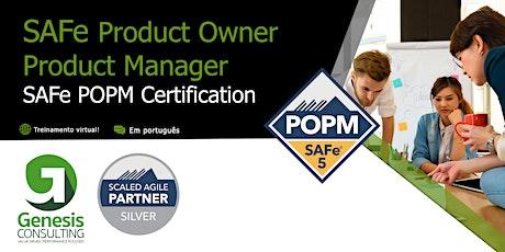 SAFe Product Owner/Product Manager - Live OnLine - Português bilhetes