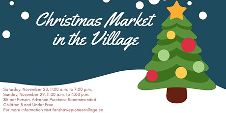 Christmas Market in the Village; Sunday, November 29, 2020 tickets