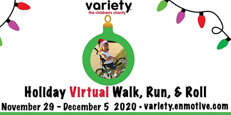 Variety Holiday Virtual Walk, Run and Roll tickets