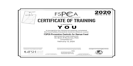 FSMA Preventive Controls Qualified Individual December 2020