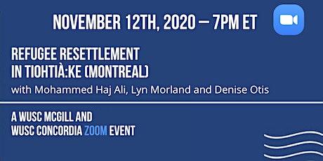 Panel: Refugee Resettlement in Tiohtià:ke (Montreal) tickets
