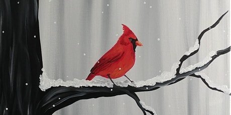 "Virtual Paint Party ""Cardinal in Winter"" with Creatively Carrie! tickets"