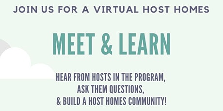 Host Homes  Meet and Learn tickets