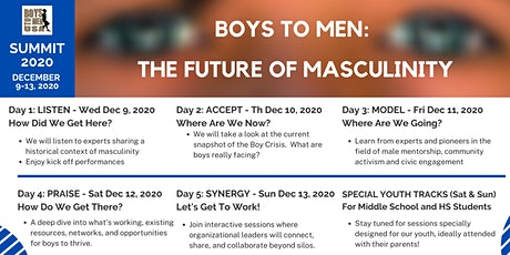 Summit 2020: Boys to Men: The Future of Masculinity tickets