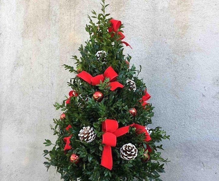 VIRTUAL WORKSHOP: Make and decorate a fresh boxwood tree image
