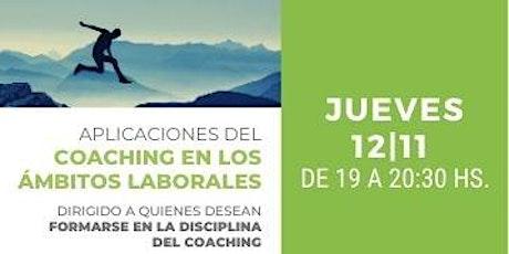 Mesa Redonda: Coaching Ejecutivo y Deportivo - Jueves 12 de Noviembre 19hs entradas