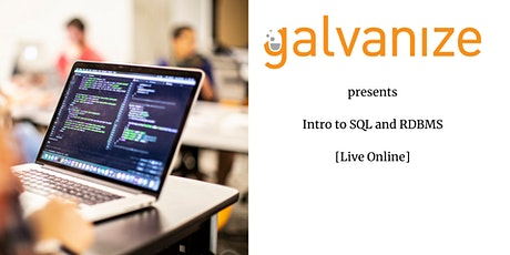 Intro to SQL and RDBMS [Live-Online] tickets
