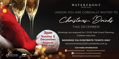 Unison Waterfront Residents - Christmas Drinks tickets