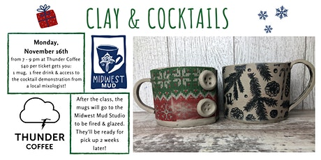Clay & Cocktails at Thunder Coffee on 11/16! tickets